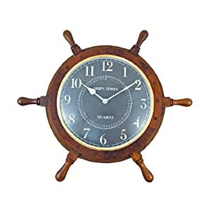413o-71IcVL._SS300_ Best Ship Wheel Clocks