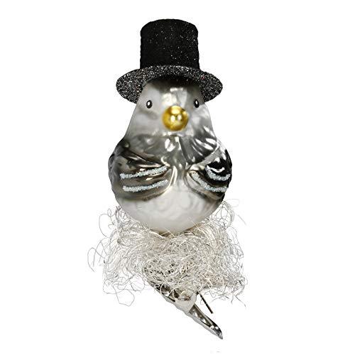 Inge-Glas Bird Clip-On Mr. 1-030-15 German Blown Glass Christmas Ornament