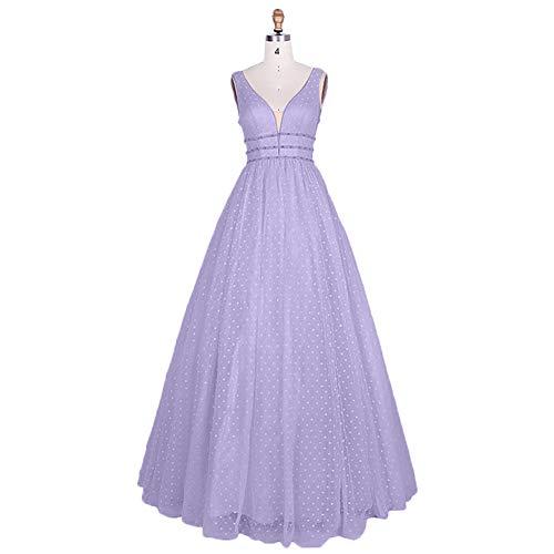 Lilac Linie Partykleider Ballkleider Promkleider Charmant Lang Abendkleider Traumhaft A Prinzess Tuell Damen 8wRnBgfqxP
