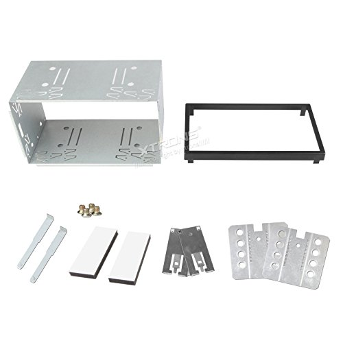 (XTRONS Double Din 2 Din Universal Car Radio Mounting Car Cage Head Unit Cage Fitting Kit (14-003A))