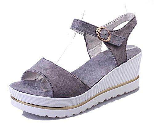 pendiente de verano con dos mujeres gruesas sandalias principales de los pescados corteza estudiante zapatos impermeables Grey