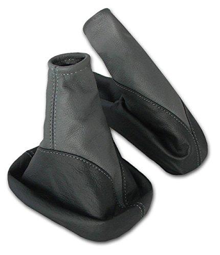 5 opinioni per L&P A104-6 Set Cuffia leva cambio e cuffia freno a mano- vera pelle nero- grigio