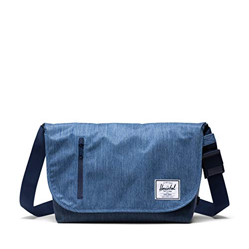 - Herschel Odell Laptop Messenger Bag, Faded Indigo Denim, One Size
