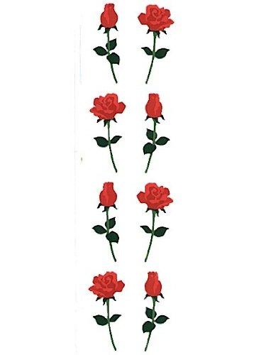 Mrs. Grossman's Regular Sticker Packs standard red small roses 3 sheets [PACK OF 6 ] - Mrs Grossmans Sticker Sheet