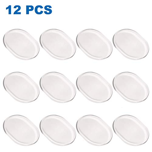 AQUEENLY Drum Dampeners, Clear Silicone Drum Dampening Gel Pads Mute for Drums Tone Adjust, 12 Piece (Moongels For Drums)