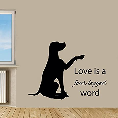 Labrador Wall Decal Dog Wall Quotes Pets Vinyl Sticker Puppy Decal Pet Shop  Decor Kids Wall