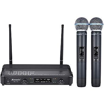ammoon baomic bm u752 uhf digital wireless handheld microphone system 2 microphones. Black Bedroom Furniture Sets. Home Design Ideas