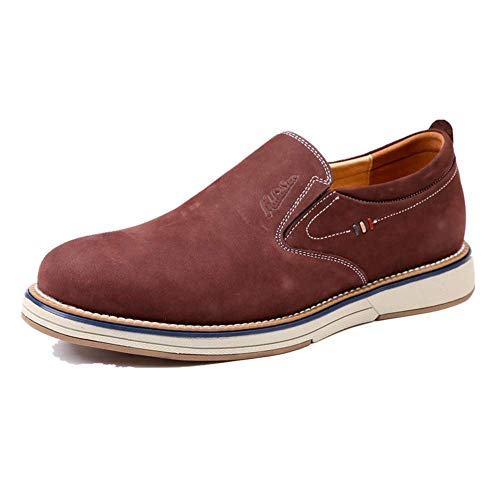 9 Brown 7 8 UK Casuales el tamaño Dark la Color Oscuro US Tamaño y Hombres sin de para Color Primavera Cordones 5 5 de Marrón HhGold Zapatos Cuero UK Dark Brown otoño 8 US xFAngXqU