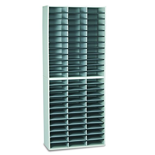 Fellowes 25121 Literature Organizer, 72 Letter Sections, 29 x 11 7/8 x 69 1/8, Dove Gray by Fellowes