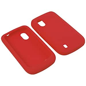 BW Soft Sleeve Silicone Gel Cover Skin Case for T-Mobile ZTE Concord V768 -Red