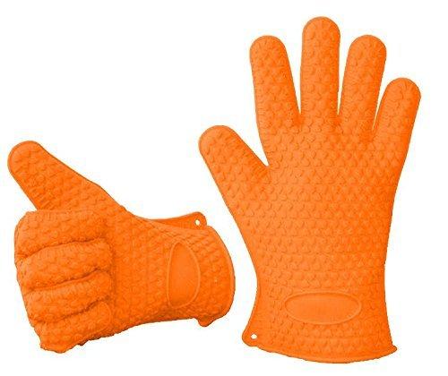 Ineibo kitchen guanti da cucina guanti da forno guanti barbecue in silicone ultra spessi e - Guanti da cucina ...