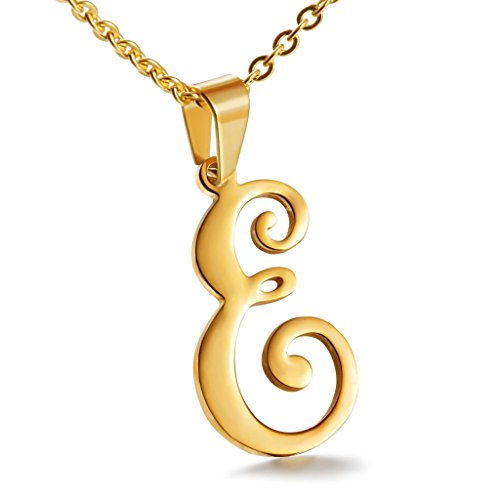 Besteel Stainless Alphabet Initial Necklace