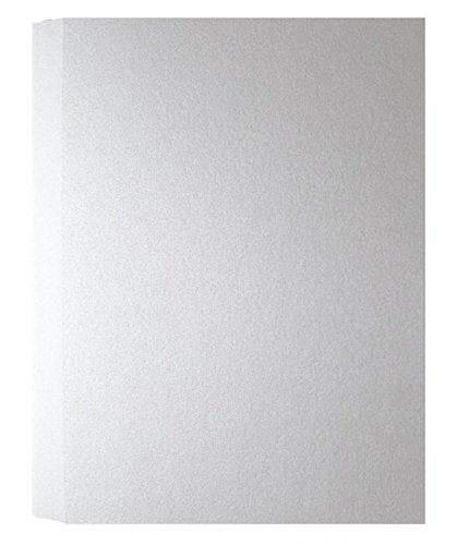 Shimmer Pure White Pearl 107C (5X7) A7 Flat Cards - 50 pack (Card Shimmer)