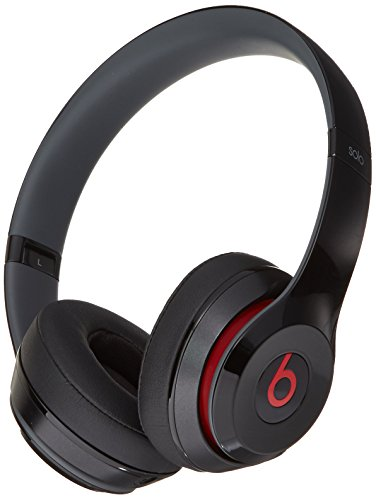 Beats Solo 2 WIRED On-Ear Headphone NOT WIRELESS - Black (Certified Refurbished) by Beats