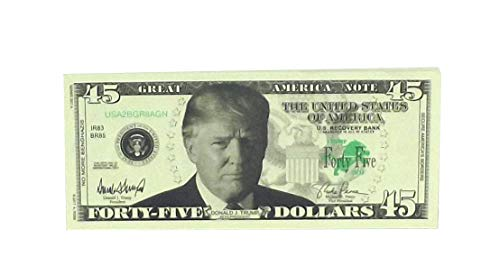 A Ross and Company Donald Trump 45th President Billion Dollar Bill, 25 Count