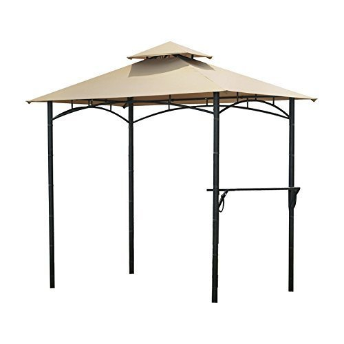 Garden Winds Bamboo Look BBQ Gazebo Replacement Canopy LCM828B