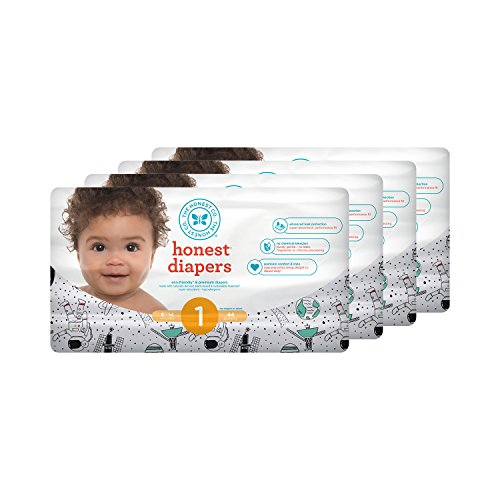Honest Baby Diapers, Space Travel, Size 1, 176 Count