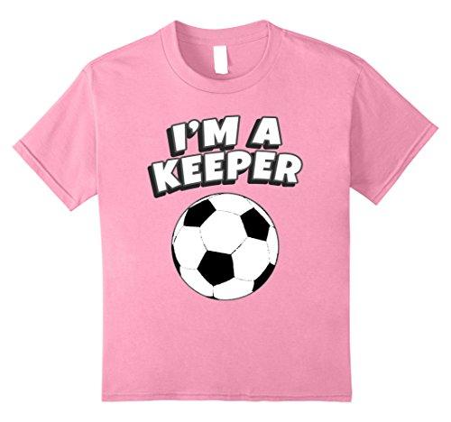 Graphic Jersey Goalkeeping (Kids I'm A Keeper Goalkeeper Gloves Goalie Soccer Sport Shirt. 8 Pink)