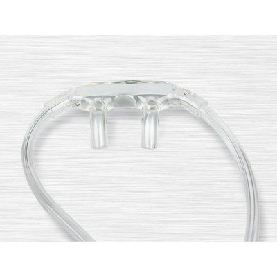 Free Tubing - Medline Industries HCS4510 Soft Touch Oxygen Cannula without Tubing, Latex Free, Adult Size (Pack of 50)