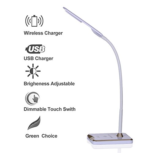 LED Desk Lamp, Alloyseed 5W 5V/1A Dimmable Desk Lamp with...