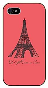 iPhone 5C The Eiffel Tower in Paris. Vintage pink - Black plastic case / Inspirational and motivational life quotes / SURELOCK AUTHENTIC