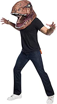 Rubie's Jurassic World Adult T. Rex Adult Inflatable Air Head Mask Adult Cos