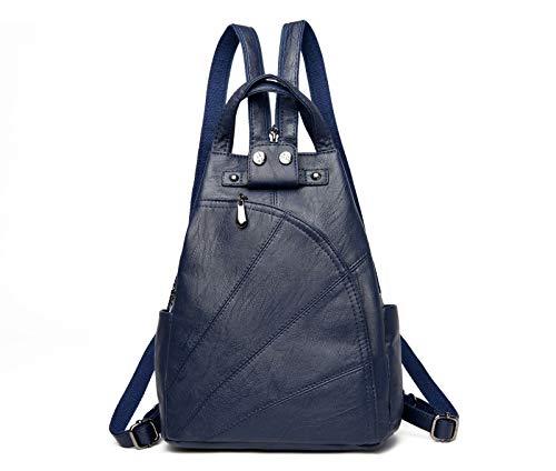 borsa nero 25x13x31cm morbida Theft Lady Blu Borsa per Pelliccia Backpack Small petto Anti Hydyi con donna Multifunzione Tote WUccZaFy