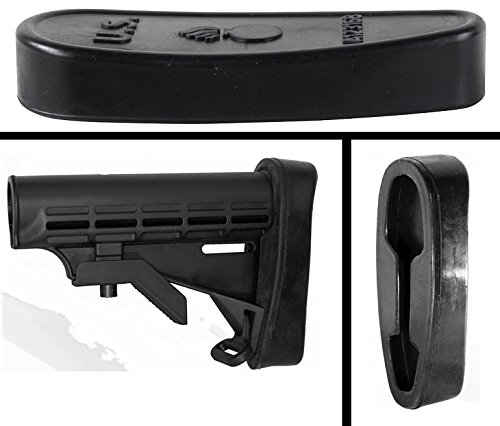 Ultimate Arms Gear Black Slip On Bomb Rubber Recoil Reducing Buttpad Butt Pad