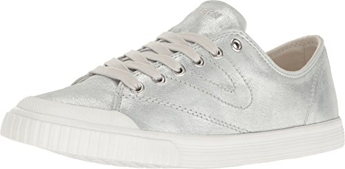 Tretorn Women's MARLEY6 Sneaker, Silver/Vintage White, 8 Medium US