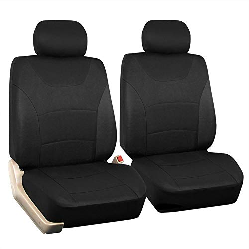 Car Front Seat Covers, Black Universal Fit Seat Covers for Sedan, Truck, SUV 1 Pair of Cloth Bucket Seat Covers