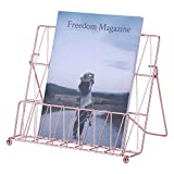 West Beauty Cooper Cookbook Food Magazine Stand Holder Easel, Decorative Display Stand Book Holder,Large Size,Rose Gold
