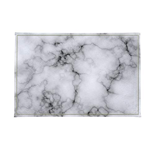 - Concise Marble Texture Domolite Decor Luxury Stylish Bath Rugs 3D Digital Printing 16x24 Inch Customized Personality Black Lines Spread Gray Outdoor Indoor Front Door Mat Non-slip Bath Mat