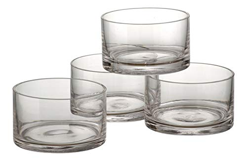 Glass Cylinder Bowls - Artland Simplicity set of 4 Nappies
