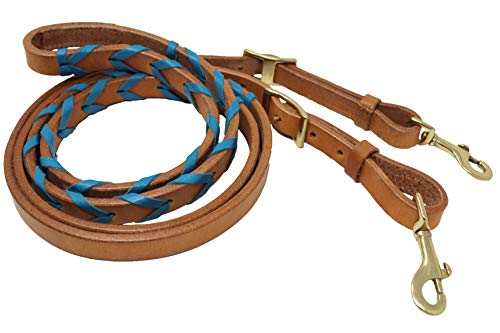 CHALLENGER Amish USA Made Harness Leather Roping Horse Barrel Contest Reins Tack 66RT10PB