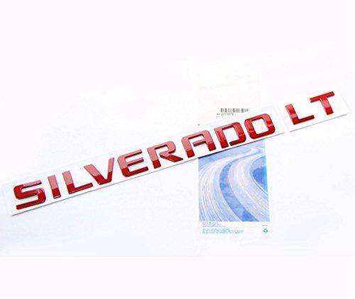 Yoaoo OEM Red Silverado LT Emblem Nameplate Badge 3d Alloy Original Silverado Chevrolet Glossy