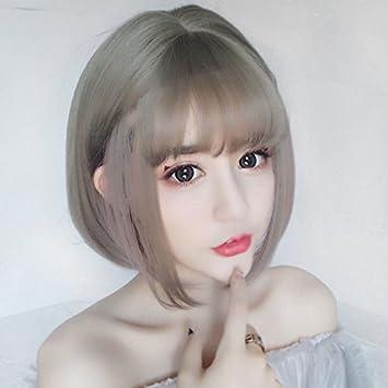 Amazon Com Pear Head Wig Women Girls Female Short Hair Shoulder