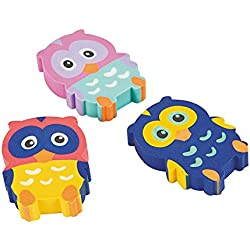 Owl Erasers 2 Dozen, Party Favors,birthday's Party Supplies,school Supplies,office Supplies, Toys