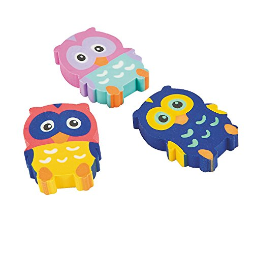 Owl Erasers 2 Dozen, Party Favors,birthday's Party Supplies,