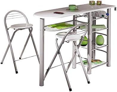 La barra de la cocina tiene 4 estantes grandes para pisos, tazas u otros utensilios de cocina. Se su