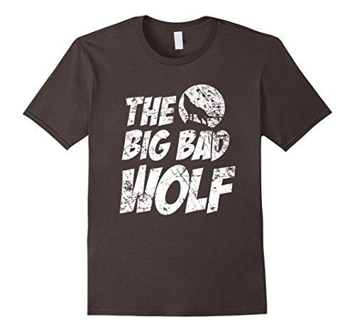 Men's The Big Bad Wolf Shirt, Funny Cute Halloween Costume Gift Medium Asphalt (Cute Halloween Costumes For Men)