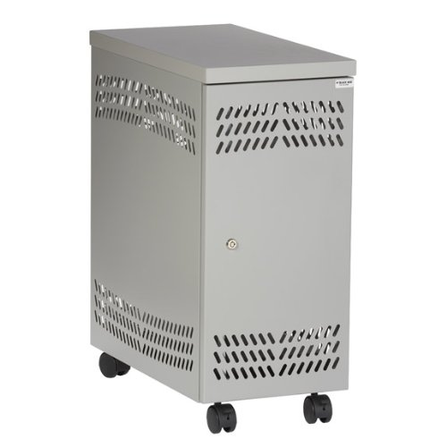 Black Box CPU Mobile Security Cabinet - Light Gray