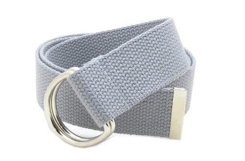 [Canvas Web Belt Double D-Ring Buckle 1.5