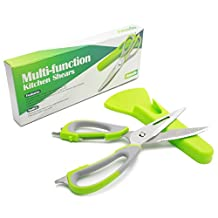 Poultry Shears, Amado Multi-function Poultry Shears with Holder Magnetic Sheath Stainless Steel Kitchen Shears Heavy Duty for Daily House Life
