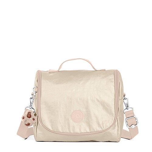 Kipling Kichirou womens Metallic Lunch Bag, Sparkly Gold One Size