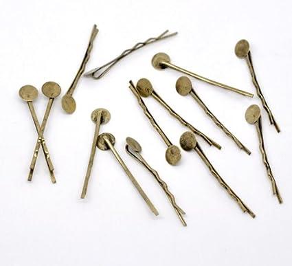 100 blanks hair pin hair bobby pins cabochon tray pin 44mm silver metal pins silver hair clips baby pins hair pins bobby pins