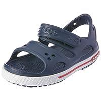 Crocs Unisex Kids Crocband II Sandal Holiday Summer Lightweight Shoes - Navy/White - C12