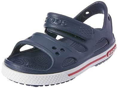 crocs Kids' Crocband II Sandal (Toddler/Little Kid/Big Kid), Navy/White, 4 M US Toddler