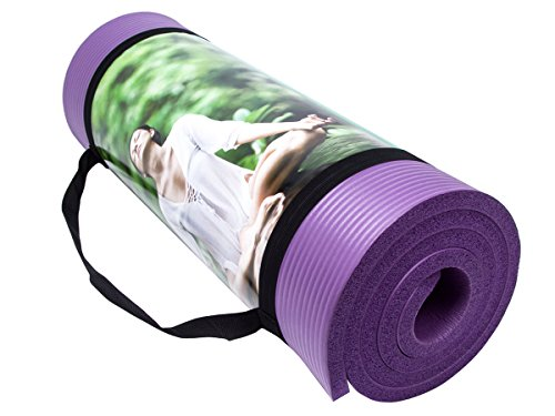 QUBABOBO NBR 1 2-Inch Extra Thick 72-Inch Long Non Slip Exercise Yoga Mat for Pilates,Fitness Workout and Dance