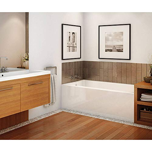 MAAX 105815-R-000-001 Rubix Acrylic Right-Hand Bathtub 59.75-in L x 30-in W x 18.375-in H White ()