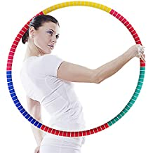 """PAMASE 35.4"""" 2.87 lbs Weighted Hula Hoops Adults Weight Loss Fat Burning Waist Abodominal Exercise, Large Professional Fitness Detachable Sports Health Aerobic Workout Hula Hoop Beginners"""